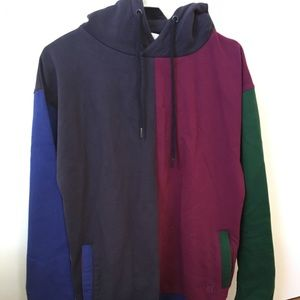 Teddy fresh color block hoodie with zip pockets